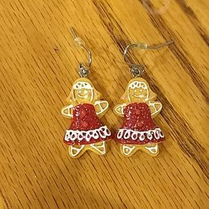 😁Gingerbread Girl Holiday Earrings😁